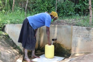 The Water Project: Luyeshe Community, Simwa Spring -  Fetching Water At The Spring
