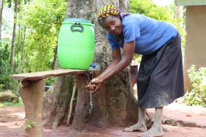 The Water Project: Luyeshe Community, Simwa Spring -  Making Use Of The Handwashing Station