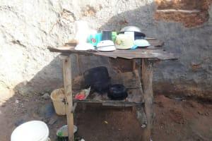 The Water Project: Isanjiro Community, Musambai Spring -  Dishrack