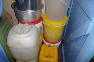 The Water Project: Isanjiro Community, Musambai Spring -  Water Storage Containers