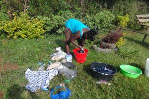The Water Project: Isanjiro Community, Musambai Spring -  Doing The Laundry