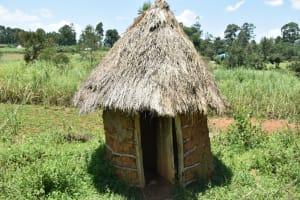 The Water Project: Shianda Commnity, Mukeya Spring -  Latrine