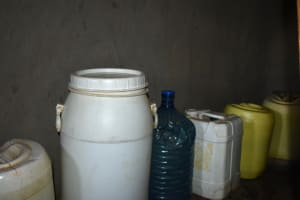 The Water Project: Shianda Commnity, Mukeya Spring -  Water Storage Containers