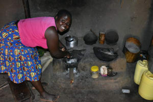 The Water Project: Shianda Commnity, Mukeya Spring -  Cooking Inside The Kitchen