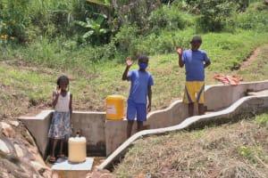 The Water Project: Ematetie Community, Weku Spring -  Children At Weku Spring