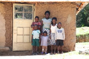 The Water Project: Ematetie Community, Weku Spring -  Doris With Her Kids