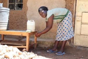 The Water Project: Ematetie Community, Weku Spring -  Handwashing