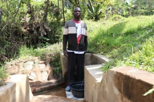 The Water Project: Ematetie Community, Chibusia Spring -  At Chibusia Spring