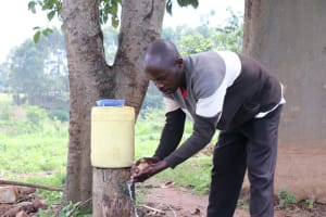 The Water Project: Ematetie Community, Chibusia Spring -  Handwashing