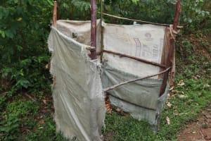 The Water Project: Shamoni Community, Laban Ang'ata Spring -  Bathing Shelter