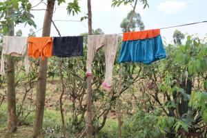 The Water Project: Shamoni Community, Laban Ang'ata Spring -  Clothesline