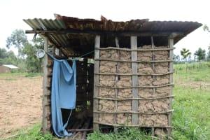 The Water Project: Shamoni Community, Laban Ang'ata Spring -  Latrine