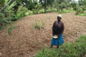The Water Project: Shamoni Community, Laban Ang'ata Spring -  Planting Season