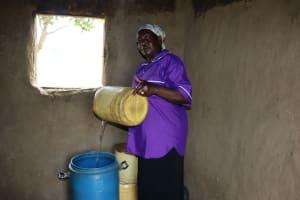 The Water Project: Shamoni Community, Laban Ang'ata Spring -  Storing Water