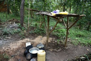 The Water Project: Malekha Central Community, Misiko Spring -  Dishrack