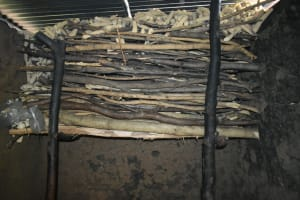The Water Project: Malekha Central Community, Misiko Spring -  Firewood Inside Kitchen