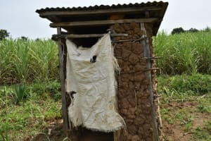 The Water Project: Malekha Central Community, Misiko Spring -  Latrine