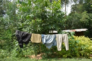 The Water Project: Malekha Central Community, Misiko Spring -  Clothesline