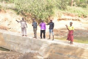The Water Project: Mbitini Community -  Complete Dam