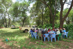 The Water Project: Mbitini Community -  People At The Hygiene And Sanitation Training