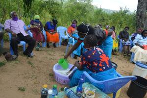 The Water Project: Nduumoni Community -  Soap Making