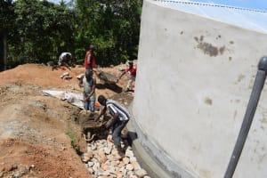 The Water Project: Kimuuni Secondary School -  Tank Drainage