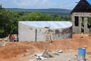 The Water Project: Kimuuni Secondary School -  Tank Wall Construction