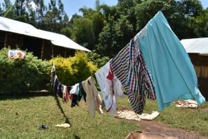 The Water Project: Shamoni Community, Shatuma Spring -  Clothesline