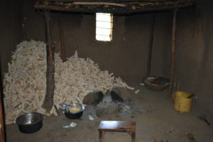 The Water Project: Shamoni Community, Shatuma Spring -  Kitchen With Cobs Stored For Fuel