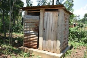 The Water Project: Shamoni Community, Shatuma Spring -  Latrine