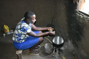 The Water Project: Shamoni Community, Shatuma Spring -  Ms Mukavana Cooking