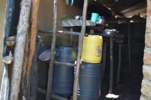 The Water Project: Shamoni Community, Shatuma Spring -  Water Storage Containers