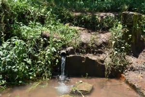 The Water Project: Shamoni Community, Shatuma Spring -  Access Point