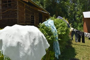 The Water Project: Shamoni Community, Shatuma Spring -  Clothes Drying