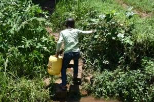 The Water Project: Shamoni Community, Shatuma Spring -  Leaving The Spring