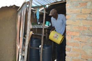 The Water Project: Shamoni Community, Shatuma Spring -  Storing Water