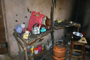 The Water Project: Shamoni Community, Shatuma Spring -  Utensils Inside A Kitchen