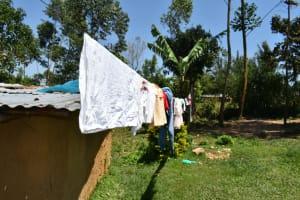 The Water Project: Shianda Community, Akhonya Spring -  Clothesline