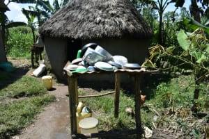 The Water Project: Shianda Community, Akhonya Spring -  Dishrack