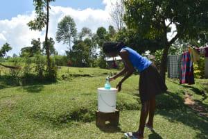 The Water Project: Shianda Community, Akhonya Spring -  Handwashing Facility