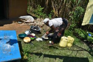 The Water Project: Shianda Community, Akhonya Spring -  Washing Plates