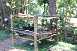 The Water Project: Elwichi Community, Mulunda Spring -  A Dishrack With Utensils Drying