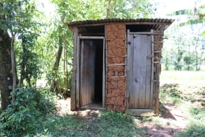 The Water Project: Elwichi Community, Mulunda Spring -  A Joint Latrine And Bathroom