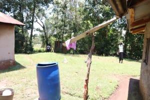 The Water Project: Elwichi Community, Mulunda Spring -  The Rainwater Harvesting Setup