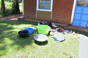 The Water Project: Elwichi Community, Mulunda Spring -  Clothes Laid Out For Washing