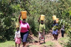 The Water Project: Elwichi Community, Mulunda Spring -  Walking Home