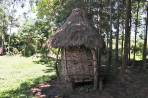 The Water Project: Kalenda A Community, Moro Spring -  A Small Family Granary