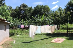 The Water Project: Kalenda A Community, Moro Spring -  Clothes Aired Out To Dry