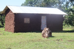 The Water Project: Lukala West Community, Luka Spring -  A Newly Constructed House
