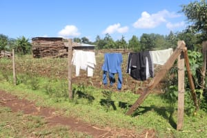 The Water Project: Lukala West Community, Luka Spring -  Clothes Aired Out To Dry On The Fence